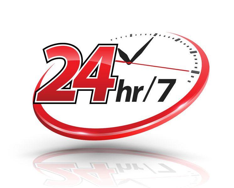 24/7 SERVICE, 365 DAYS A YEAR