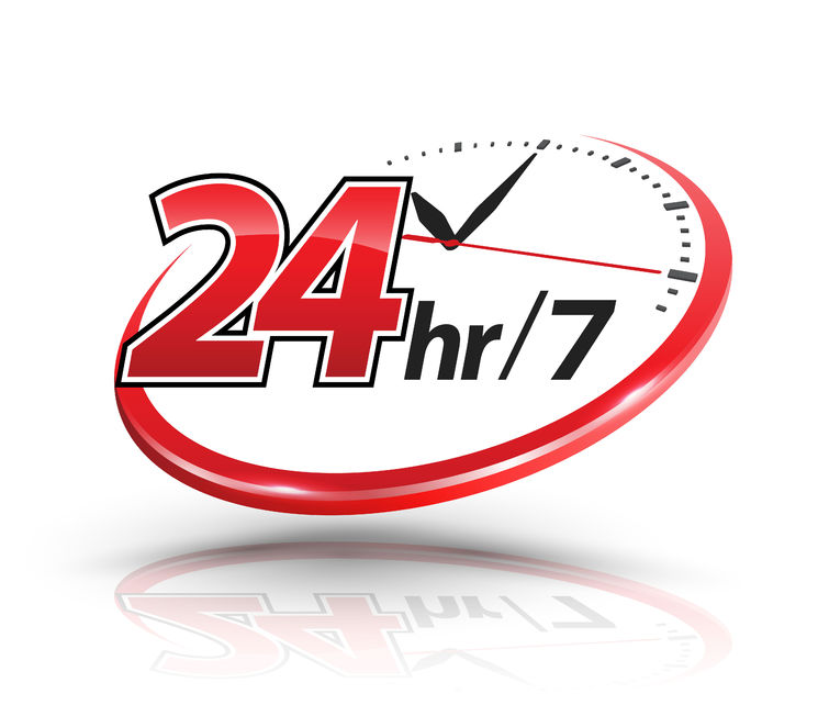 24hr 365 days services